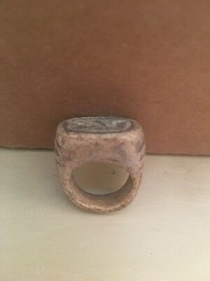 Rare Ancient Egyptian Amulet  Stone Ring M 6 (26th DYN 680 Bc)