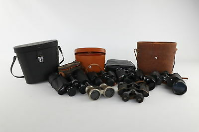 Job Lot 6x Pairs Assorted BINOCULARS inc Cenbar, Omega, Pathescope
