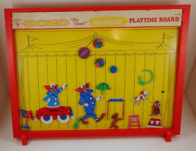 Vintage Transogram Bozo The Clown Magnetic Playtime Board #8745 HTF Magnets