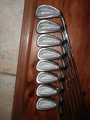 Tommy Armour 845's Silver Scott 3-PW Iron Set Regular Flex Right Handed NICE!!