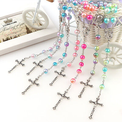 FIRST HOLY COMMUNION ROSARY BEADS Gifts Girl Boy StarrySky Quality Rosaries +BAG