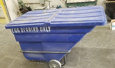Rubbermaid 1026 Heavy Duty 1.5 Cubic Yard Tilt Truck 2000lb Lid 1025 gondola