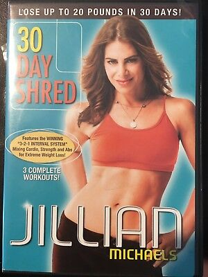 Jillian Michaels: 30 Day Shred (DVD, 2007) 3 Complete Workouts Exercise