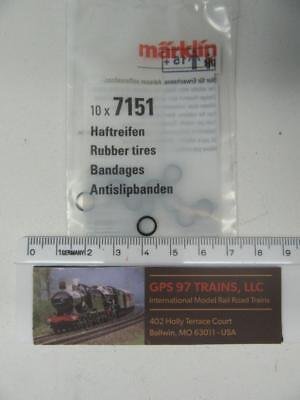 HO - Marklin Spare/Repair Parts 7151 - Traction Tires (Pack of 10) - New