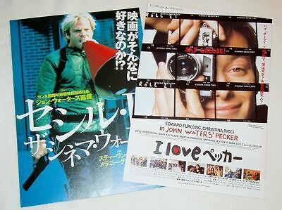 CECIL B. DEMENTED & PECKER - two John Waters movie flyers from Japan