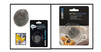 Le/'Xpress Kettle Descaler Clean Metal Mesh Stainless Steel Furring Removing Ball