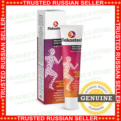 Flekosteel Warming Body Balm Original 100% From RUSSIA FREE SHIPPING