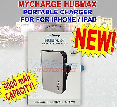 MYCHARGE HUBMAX 9000mAh PORTABLE CHARGER FOR iPHONE & iPAD QUICK CHARGE 67 HOURS
