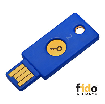 Yubico Security Key - U2F and FIDO2, USB-A, Two-Factor Authentication universal