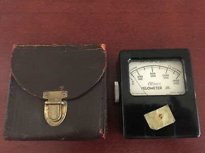 Alnor Velometer Jr 8100  Leather Case Air Velocity Meter Tested Free Shipping!