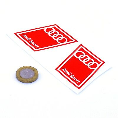 Audi Sport Sticker Car Decal Vinyl Red STICKERS 50mm Race Racing Rally