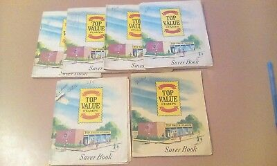 Top Value Stamps Saver Books 4 Full, 2 Partial