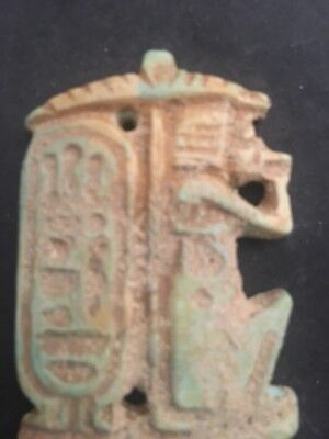 Rare Ancient Egyptian Pendant Amulet 26th DYN 680 Bc