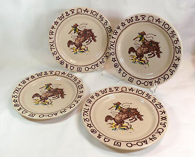 Lot of 4 - WESTWARD HO Rodeo Pattern by True West - Dinner Plate - Cowboy & Restaurant Ware China u0026 Dinnerware Pottery u0026 China Pottery ...