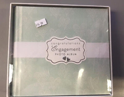 engagement photo album vintage shabby chic classy book wedding giftware home NEW