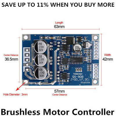 Brushless Motor PWM Control Controller Balance BLDC Driver Board DC12V-36 500W R