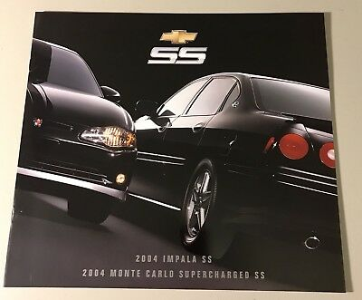 2004 Chevy Monte Carlo Ss And Impala Ss Brochure