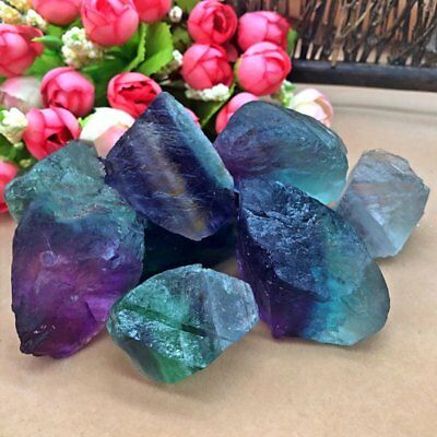 Natural Fluorite Quartz Crystal Stones Rough Polished Gravel Specimen Jewely DIY