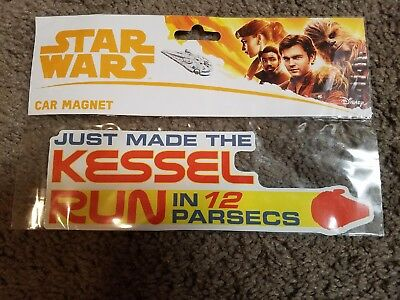 "Disney Parks ""Solo A Star Wars Story"" ""Kessel Run"" Car Magnet Decal"