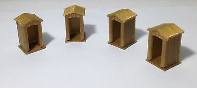 Outland Models Train Railway Layout Countryside / Trackside Shed x4 HO OO Scale