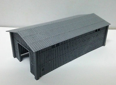 Outland Models Train Large Metal Style Shed for Warehouse / Factory N Gauge