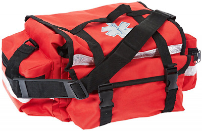 "Primacare KB-RO74-R Trauma Bag 7"" Height x 17"" Width x 9"" Depth Red"