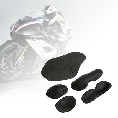5Pcs Motorcycle Riding Armour Shoulder Elbow Back Protector Pad Set Racing Guard
