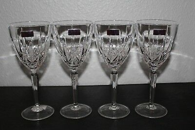 Marquis by Waterford Sparkle All Purpose Wine Glass Goblet Set of 4 Italy NEW