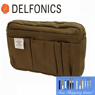 Free Ship! NEW Delfonics Olive Inner Carrying Bag M CA83 Cotton Canvas