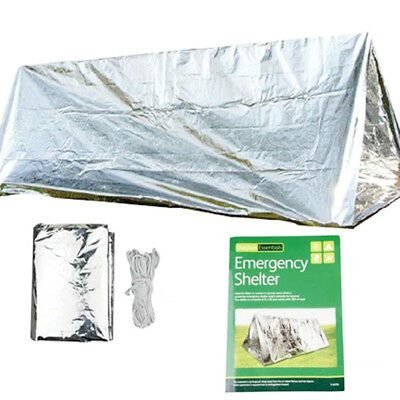 Camping Folding Tent Blanket Survival Silver Sleeping Bag Stand Warm Emergency