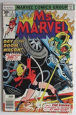 Ms. Marvel  # 5 Bronze Age Marvel Comic, Photos Show Great Condition