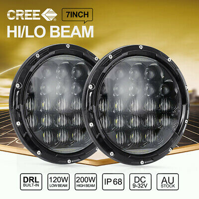 7 inch 200W CREE LED Headlights High Low Beam For Jeep Wrangler TJ JK 97-17