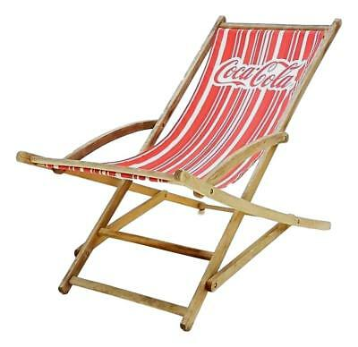 Chair in deck coca cola original 50 years chair armchair chaise lounge vintage