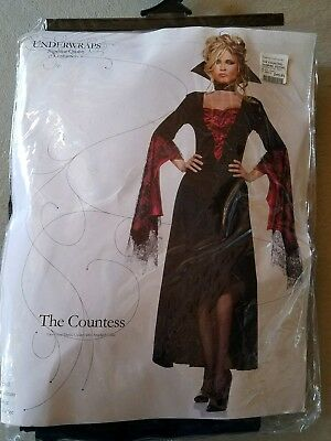 J NEW Adult Underwraps The Countess Vampire  Halloween Costume Size S