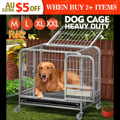 PAWZ New Portable Dog Pet Cage Puppy Playpen Collapsible Kennel Wheels