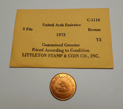 Coin United Arab Emerities: Littleton Stamp & Coin Co