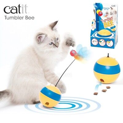 Catit Play Tumbler Bee Cat Kitten Toy Food Dispenser