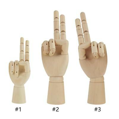 Artist Wooden Hand Model Manikin Movable Fingers Drawing AID Mannequin