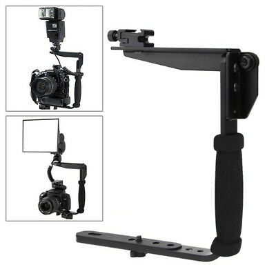 New Camera Flash Bracket Grip Camera Flash Arm Holder Stand for Nikon Canon DSLR