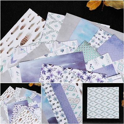24 Sheets Scrapbooking Pads Paper Origami Art Background Making DIY Crafts