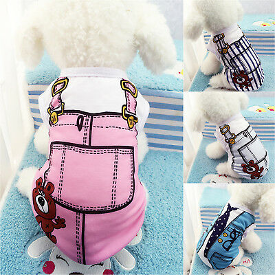 Small Pet Dog Clothes Vest Puppy Cat Summer Cotton T-Shirt Coat Costume Apparel