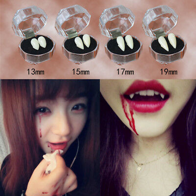 2Pcs Teeth with Dental Gum Fangs Vampire Teeth Halloween Costume Cosplay Party