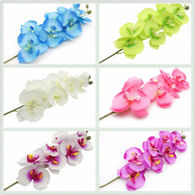 Vivid Orchid Artificial Flowers Butterfly Orchid Silk Flower Bouquet Home Decor