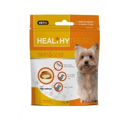 VetIQ Healthy Treats Skin & Coat 70g - Mark & Chappell Dog & Puppy Omega 3
