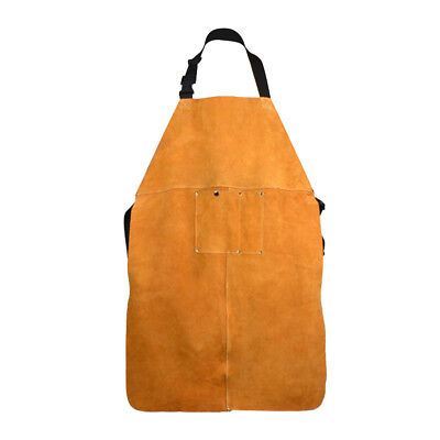 Welding Apron with Ties Pocket Heat Insulation Protective Clothing 90x60cm