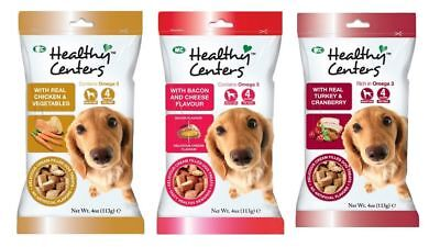 M&C Healthy Centres 113g - Dog Puppy Biscuit Treat Snacks Chicken Bacon Turkey
