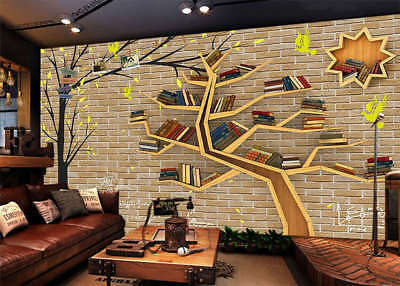 Tree Of Bookshelf 3D Full Wall Mural Photo Wallpaper Printing Home Kids Decor