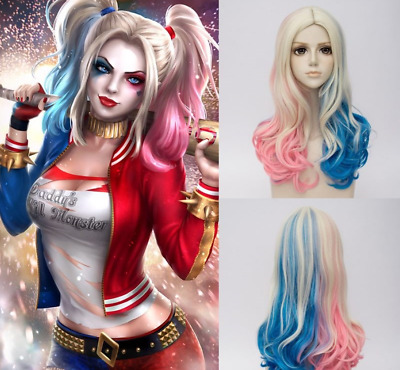 Harley Quinn Wig Suicide Squad Halloween Hair Gift Costume Cosplay Accessories
