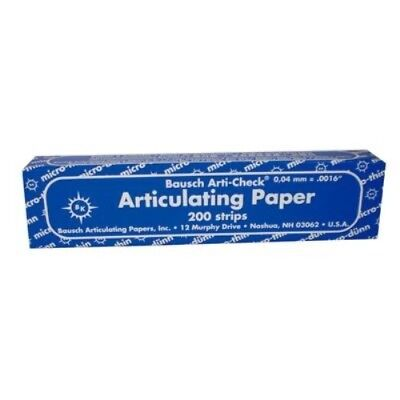 Bausch Arti-Check Articulating Paper – Straight, Box with Booklets, 200 Strips