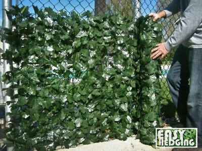 Artificial English Ivy Roll Hedge Privacy Screen Wall Garden Fence Balcony 3m 1m